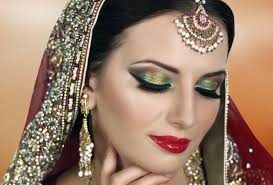 traditional indian bridal makeup tutorial red gold green asian stani arabic bengali wedding you