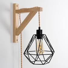 light vintage plug in hanging pendant