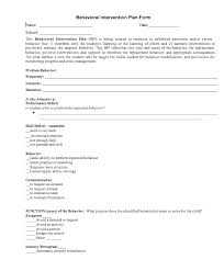 behavior intervention plan template behavior improvement plan oyle kalakaari co