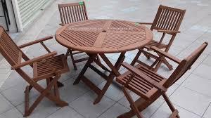 wooden outdoor dining set folding