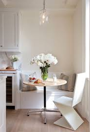 Kitchen: Comfortable Small Banquette Kitchen Small Kitchen Nook Design  White Kitchen Dining Table
