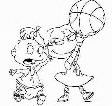 Nick Jr Basketball Coloring Pages Cartoon Coloring Pages Of