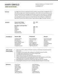 library resume samples
