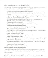 Business Development Executive Job Description Resume