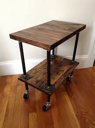 side table plumbing pipe table wood by jbjunkmarket 165 00 unsure of dimensions