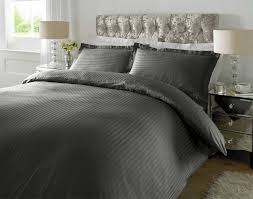 gray king size bedding residence hotel quality luxury satin stripe duvet cover single double as well 8