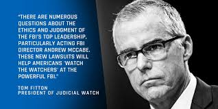Image result for judicial watch mccabe