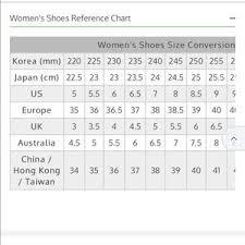 Taiwan Shoe Size Conversion Chart Beierpai Sneakers Size 245 7 5 8