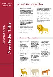 Newsletters Templates Customizable Newsletter Templates Free Download