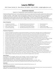 Resumes Good Profile Marketing Project Manager Resume And