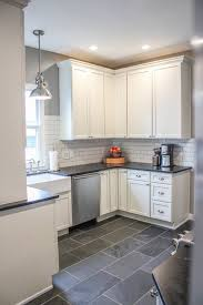 Kitchen floor tiles with white cabinets Traditional Best 15 Slate Floor Tile Kitchen Ideas White Kitchen Cabinets With Gray Wall Pinterest Kitchen Flooring Kitchen And Kitchen Tiles Pinterest Best 15 Slate Floor Tile Kitchen Ideas White Kitchen Cabinets