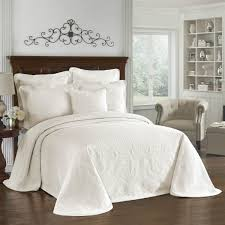historic charleston king charles ivory bedspread king