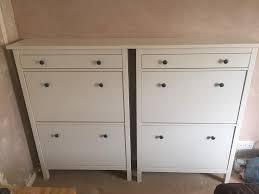 IKEA Hemnes Shoe Cabinet (White) x2