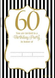 60 birthday invitations free printable 60th birthday invitation templates drevio