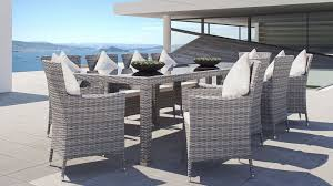 Terrassen Esstisch Set Für 10 Personen Aus Polyrattan