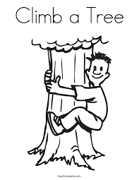Small Picture Climb a Tree Coloring Page Twisty Noodle