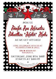 Polka Dot Invitations Polka Dot Tattoo Black Rockabilly Wedding Invitation