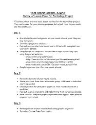 Year Round School Charts Day 1
