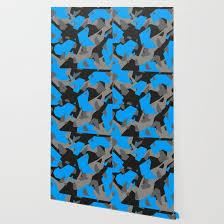 black grey blue geometric camo