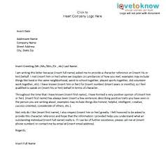 How To Write A Recommendation Letter For Employee Sample Personal Character Reference Letter 7 Of For Job Bharathb Co