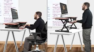 halter preassembled sit stand desk riser 169 with code o7uycdby