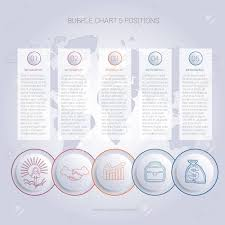 Infographics Color Bubble Chart Template For 5 Positions To Use