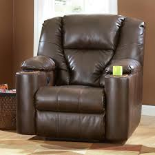 Recliner Lounge With Drink Holders Signature Design By Ashley Paramount  Durablendar Brindle Power Cup Recliner With Cup Holder And Storage O0