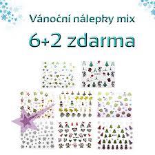 Vánoční Zimní Nálepky Na Nehty Mix 62 Zdarma
