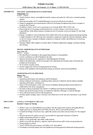 Supervisor Resume Sample Administrative Supervisor Resume Samples Velvet Jobs 23