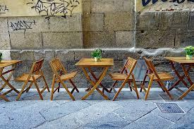 outdoor restaurant furniture materials