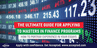 finance essays how to portray experience in your masters in finance essays