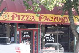 the front of the pizza factory in winters photo by matthew keys