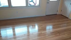 Hardwood Floor Sanding 1st coat of polyurethane