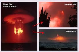Bildergebnis für blood fire and pillars of smoke images