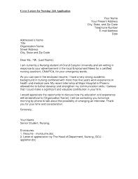 Cover Letter Nursing Position Best Registered Nurse Cover Letter
