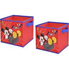 Mickey Mouse Kitchen Appliances Disney Mickey Mouse 2 Pack Storage Cube Walmartcom