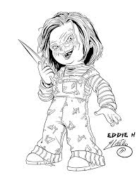 Chucky Doll Coloring Pages | Printable Coloring Pages | games ...
