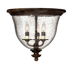 hinkley lighting rockford traditional flush mount ceiling light hk 3712 fb see details