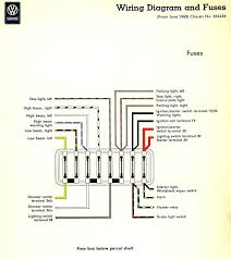 light switch fuse box thesamba com type 2 wiring diagrams 1960 fuse box insert 1961 idiot lights highlight