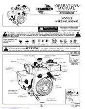 Tecumseh HSSK50 Manuals