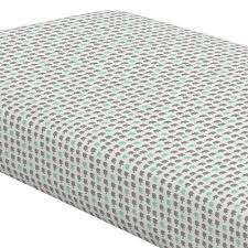 crib sheets gray and mint elephant parade crib sheet share save 1