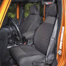 smittybilt front and rear seat cover kit black neoprene 4 door jeep wrangler jk 2016