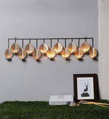 Iron Tea Light Holders Buy Courtyard Gold Iron Mayur Hanging 13 Light Tea Light