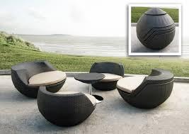 unique shape modern outdoor furniture wicker material
