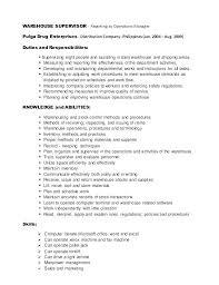 Warehouse Jobs Resume Enchanting Resume Summary Examples For Warehouse Worker And Warehouse Worker