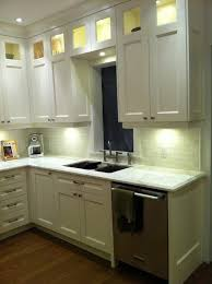 Awesome Cherry Wood Autumn Glass Panel Door Kitchen Cabinets To Ceiling Backsplash  Mirror Tile Travertine Granite Countertops