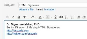 Create Use Rich Html Email Signatures On Iphone And Ipad