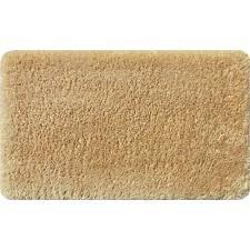 apache mills fur foam tan 20 in x 34 in bath mat