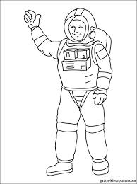 Astronaut Kleurplaten Gratis Kleurplaten