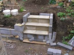 Cinder Block Stairs Cinder Block With Paver On Top Landscaping Ideas Pinterest